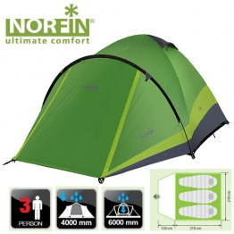 Трехместная палатка Norfin Perch 3